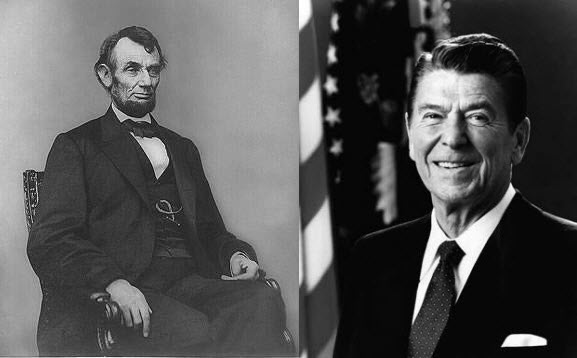 Presidential Photographs - Lincoln and Reagan