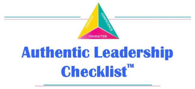 authentic leadership checklist