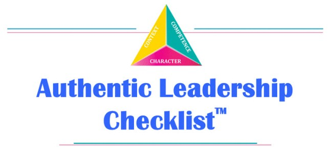 authentic leadership checklist
