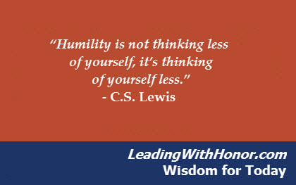 Lee Ellis - Wisdom for Today humility