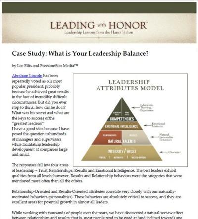 Results vs Relationships Leadership