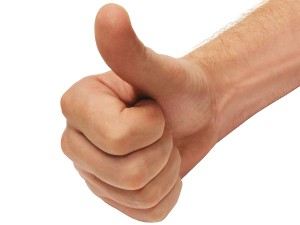 Thumbs Up Positive Thinking
