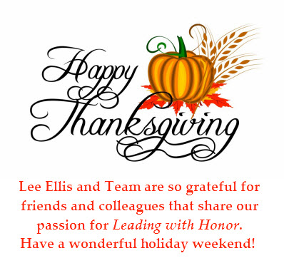 Happy Thanksgiving Lee Ellis