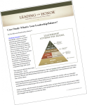 Leading with Honor Case Study