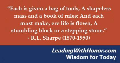 Lee Ellis - Wisdom for Today stone