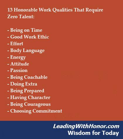 Lee Ellis - Wisdom for Today 13 Qualities