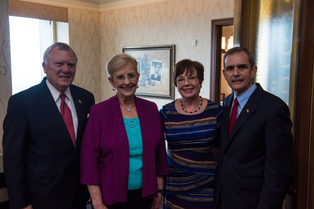 From Left to Right - Georgia Governor Nathan Deal, First Lady Sandra Deal, Mary Ellis, and Lee Ellis