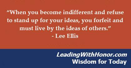 Lee Ellis Leading with Honor